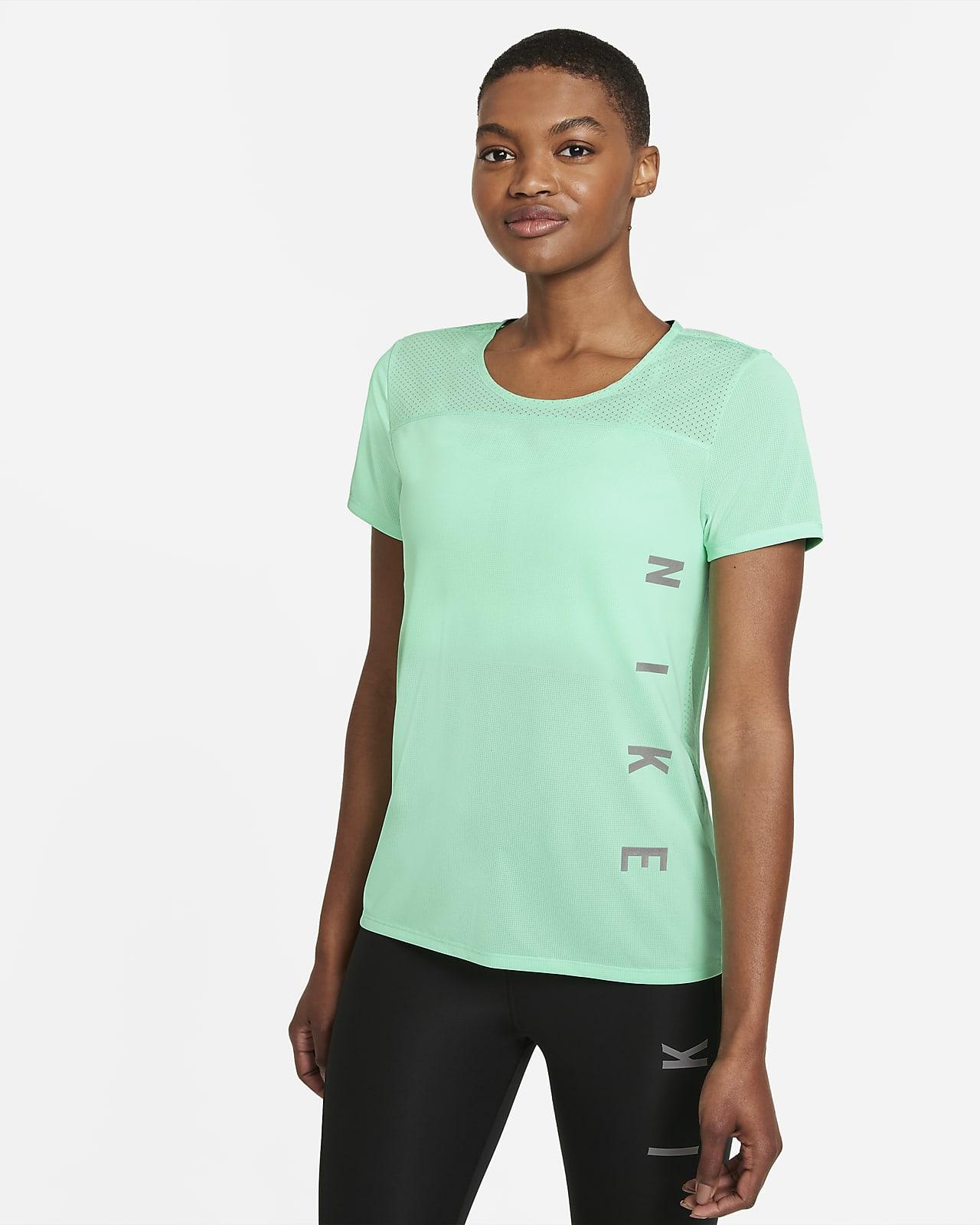 Prenda para la parte superior de running de manga corta para mujer Nike Miler Run Division