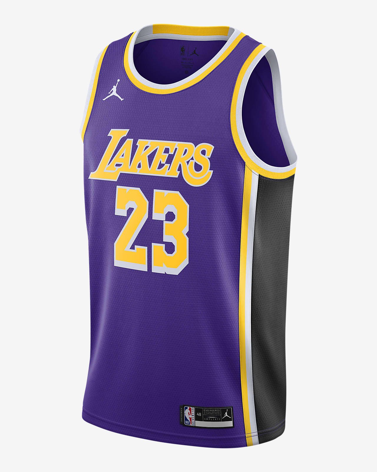 LeBron James Lakers Statement Edition 2020 Jordan NBA Swingman-trøje