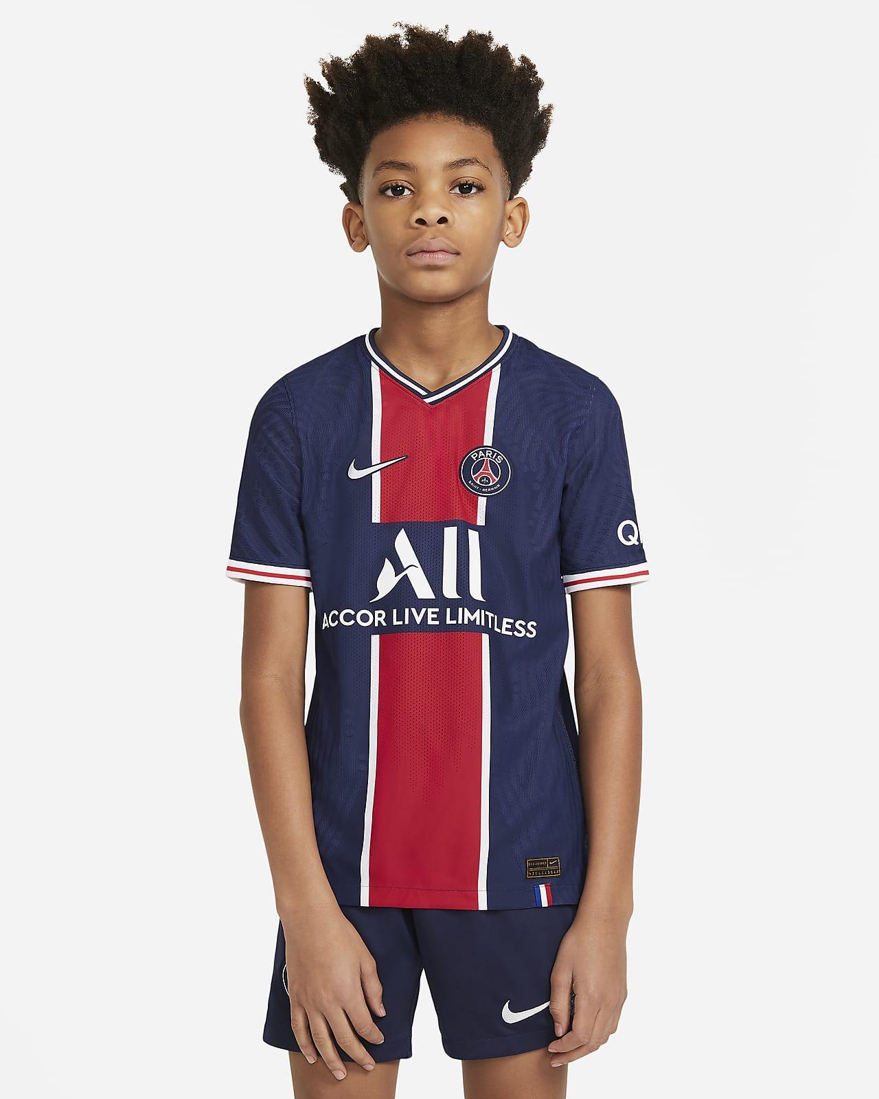 Camiseta de fútbol de local para niño talla grande Vapor Match del Paris Saint-Germain 2020/21