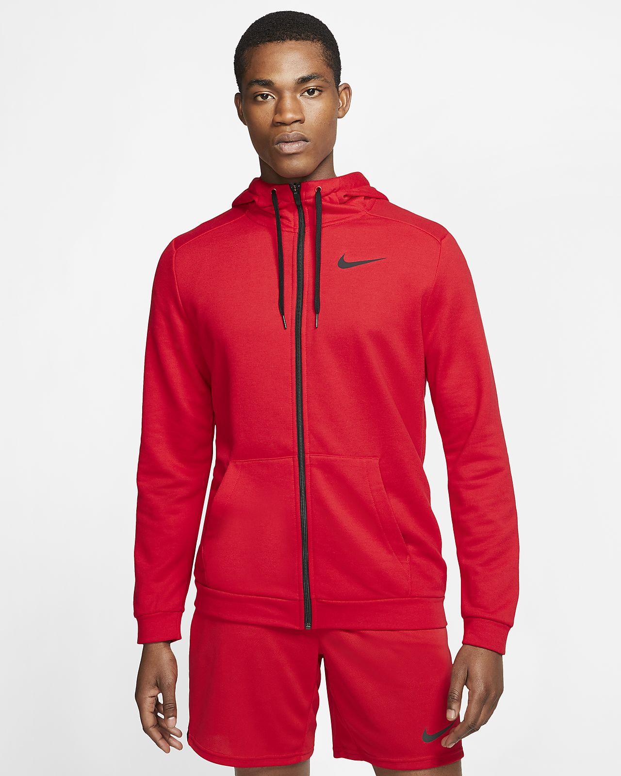 Pánská tréninková mikina Nike Dri-FIT s kapucí a zipem po celé délce