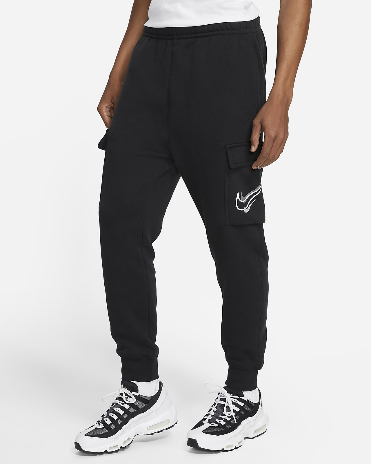 Cargobyxor i fleece Nike Sportswear för män