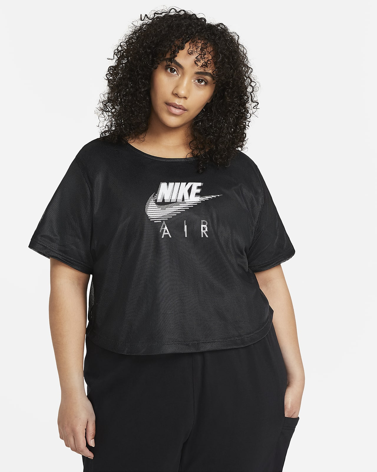 Nike Air Women's Mesh Short-Sleeve Top (Plus Size)
