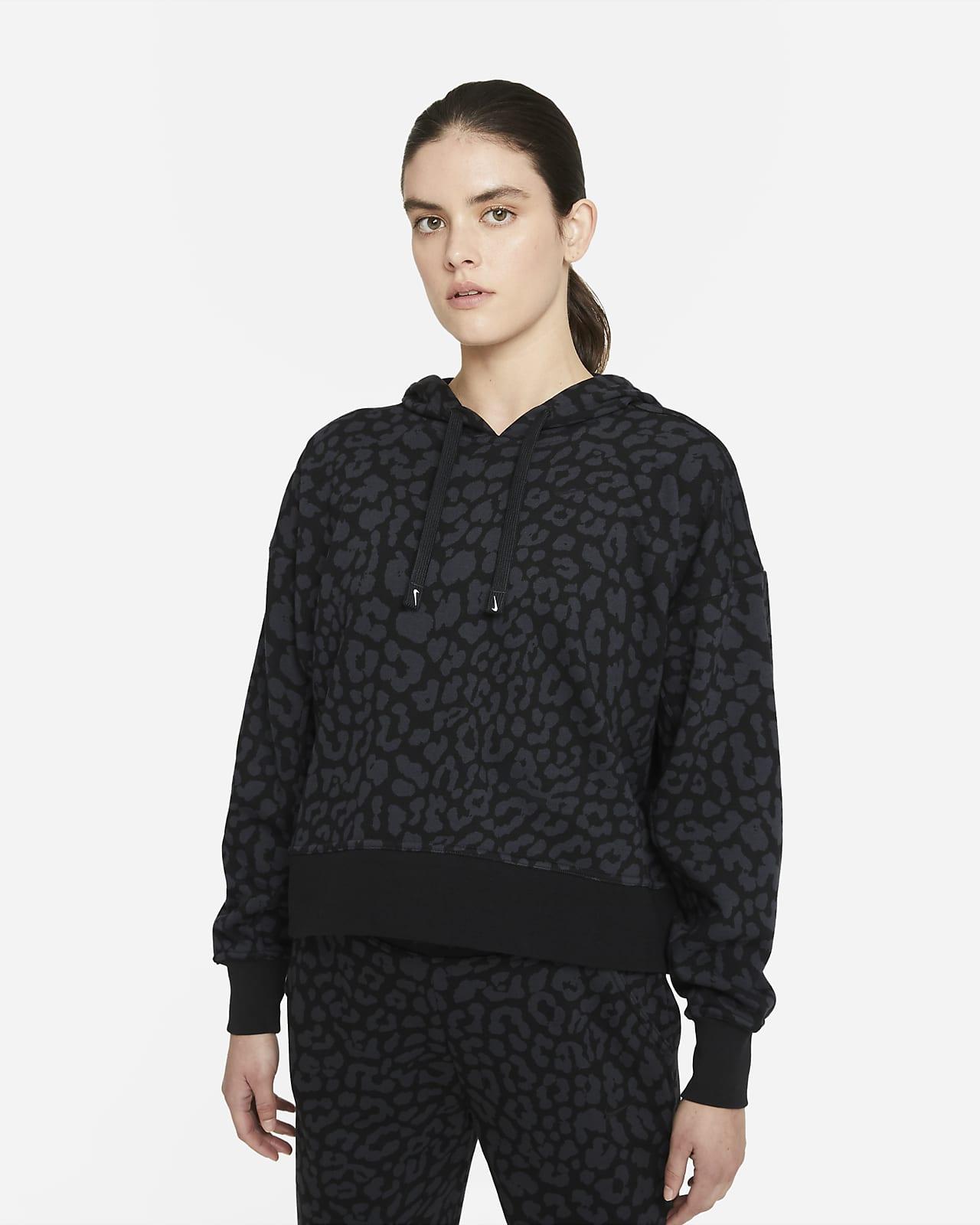 Nike Dri-FIT Get Fit Baskılı Kapüşonlu Kadın Antrenman Sweatshirt'ü