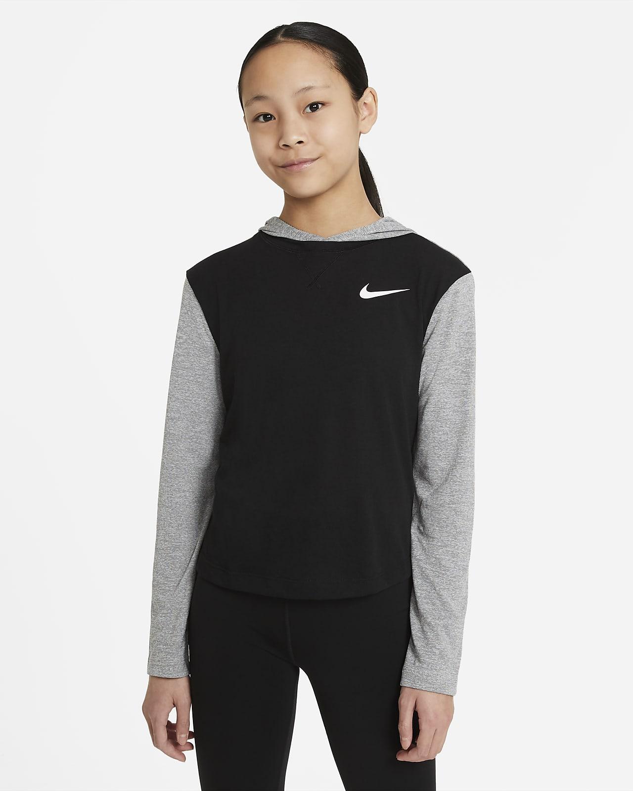 Sudadera de manga larga con capucha para niñas talla grande Nike Dri-FIT Trophy
