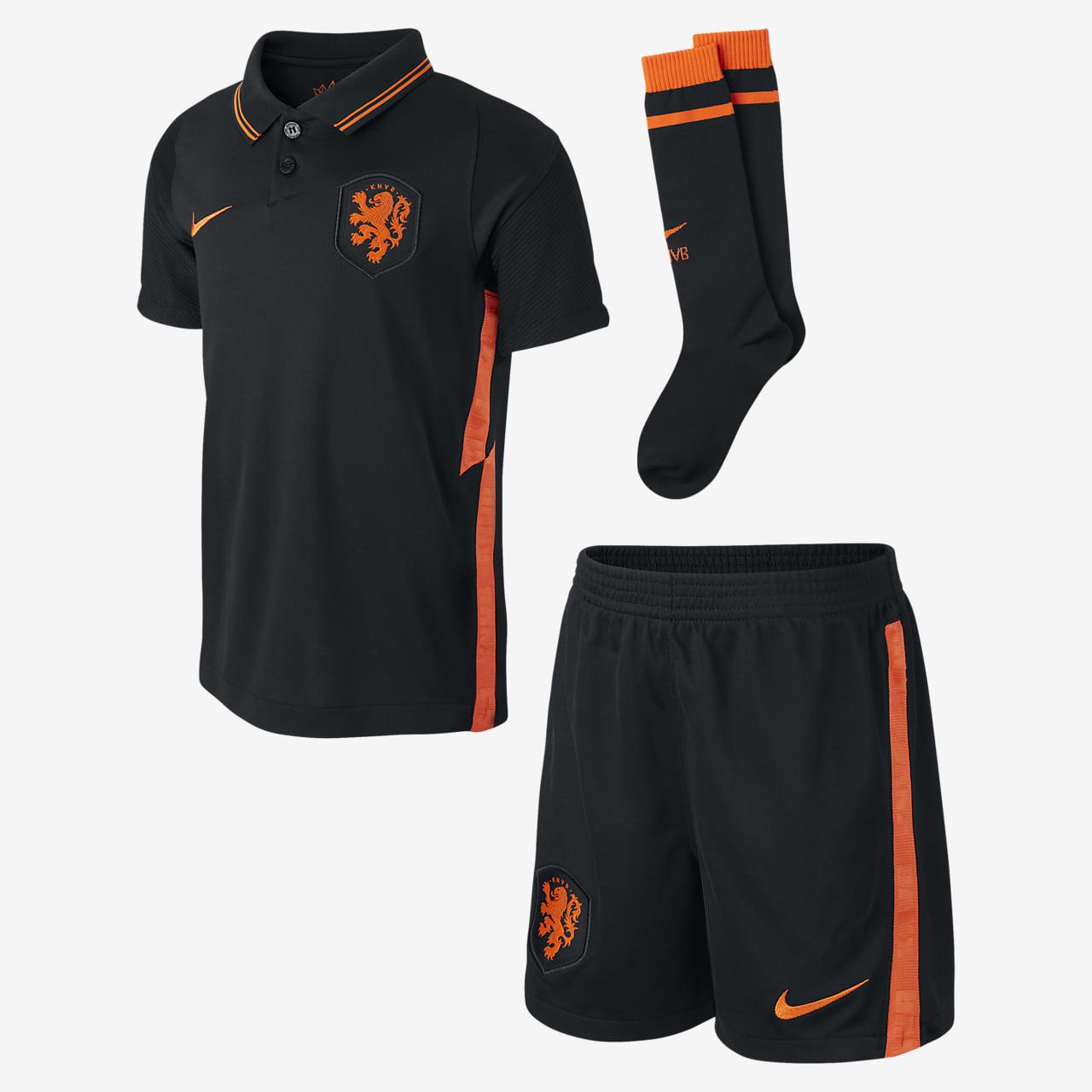 Футбольный комплект для дошкольников с символикой выездной формы сборной Нидерландов 2020