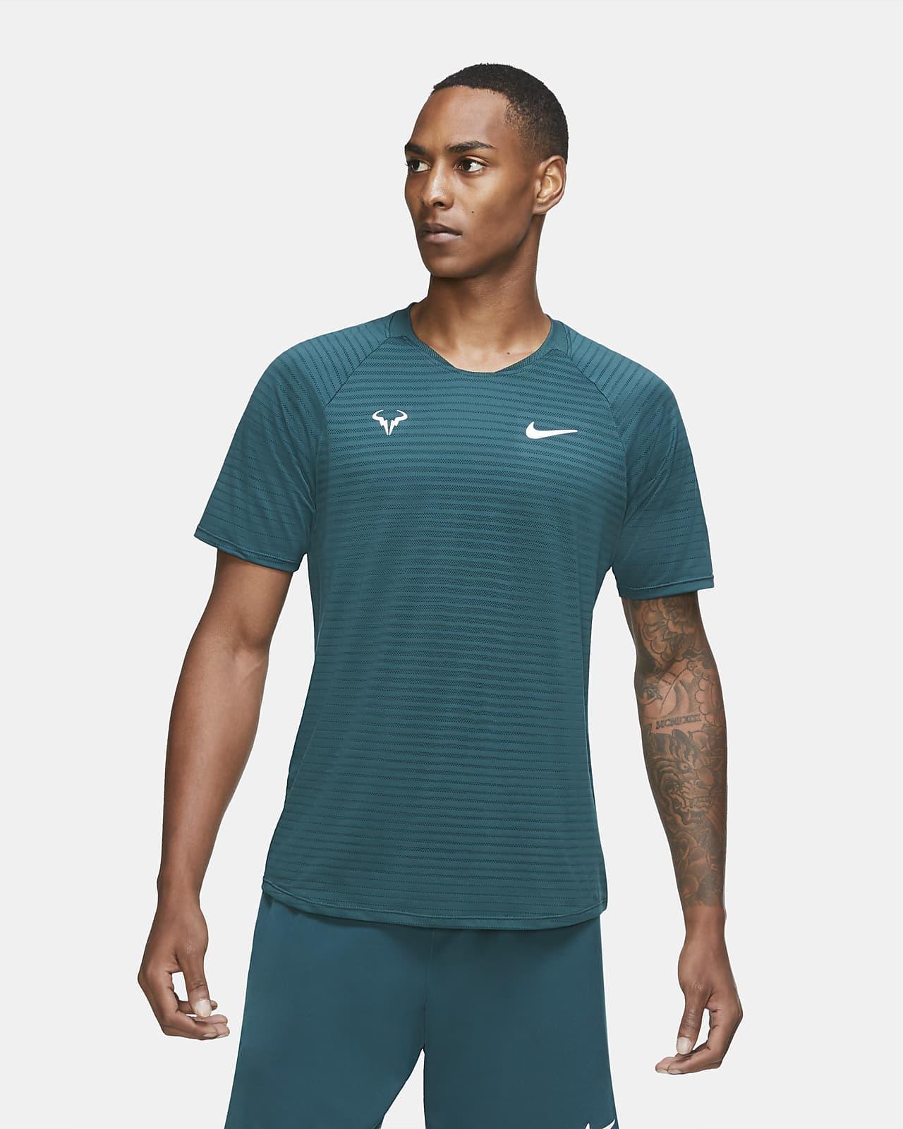 Pánské tenisové tričko NikeCourt AeroReact Rafa Slam skrátkým rukávem