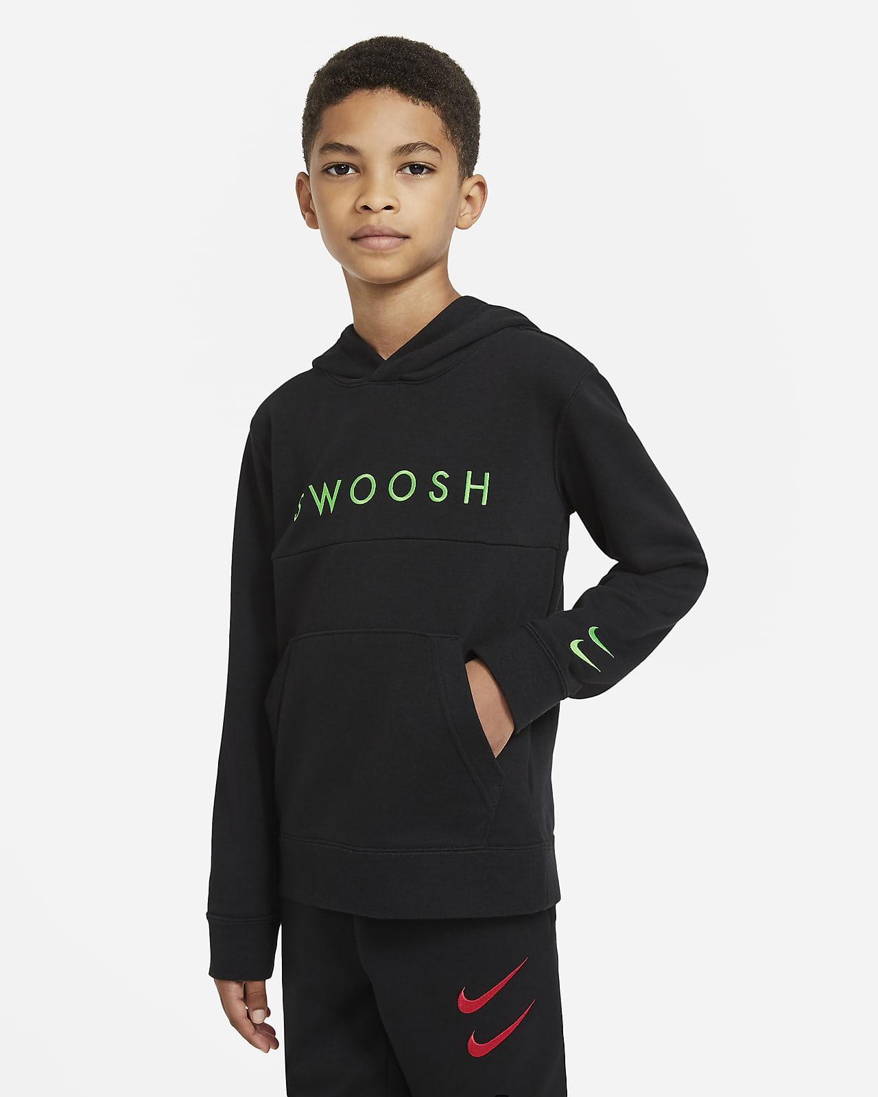 Nike Sportswear Swoosh Big Kids' (Boys') French Terry Hoodie