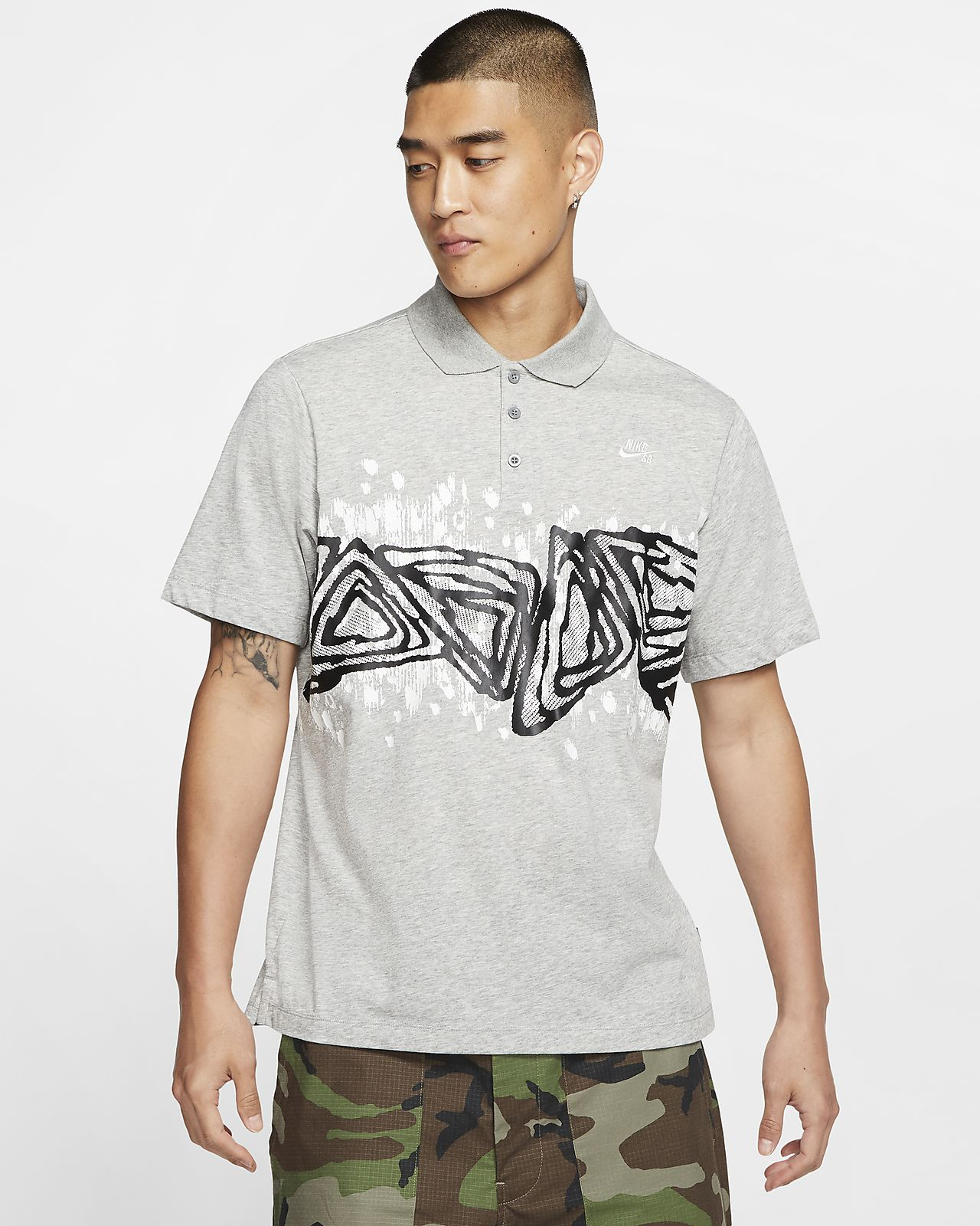 Nike SB 男款圖樣滑板 Polo 衫