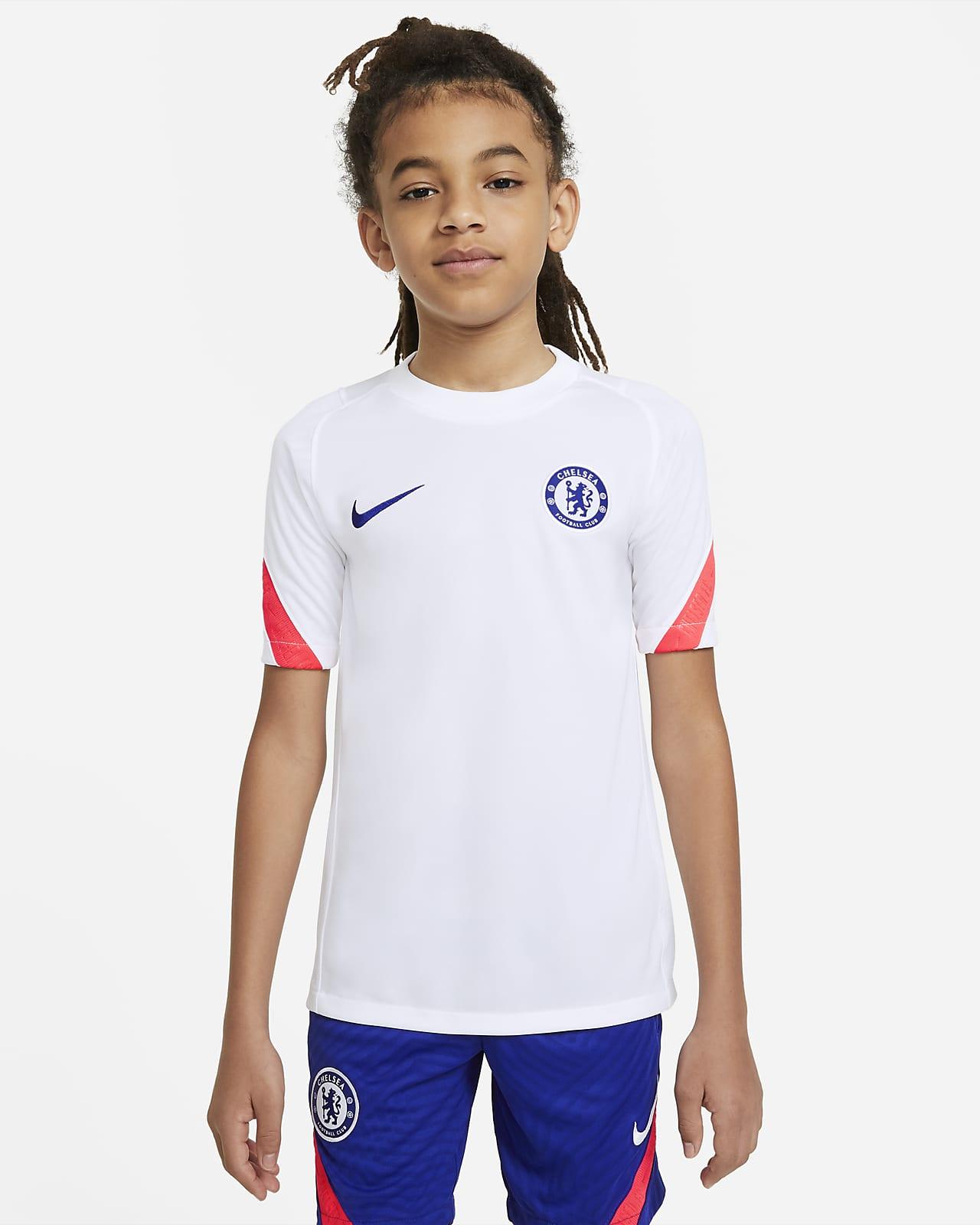 Kortærmet Chelsea FC-fodboldtop til store børn