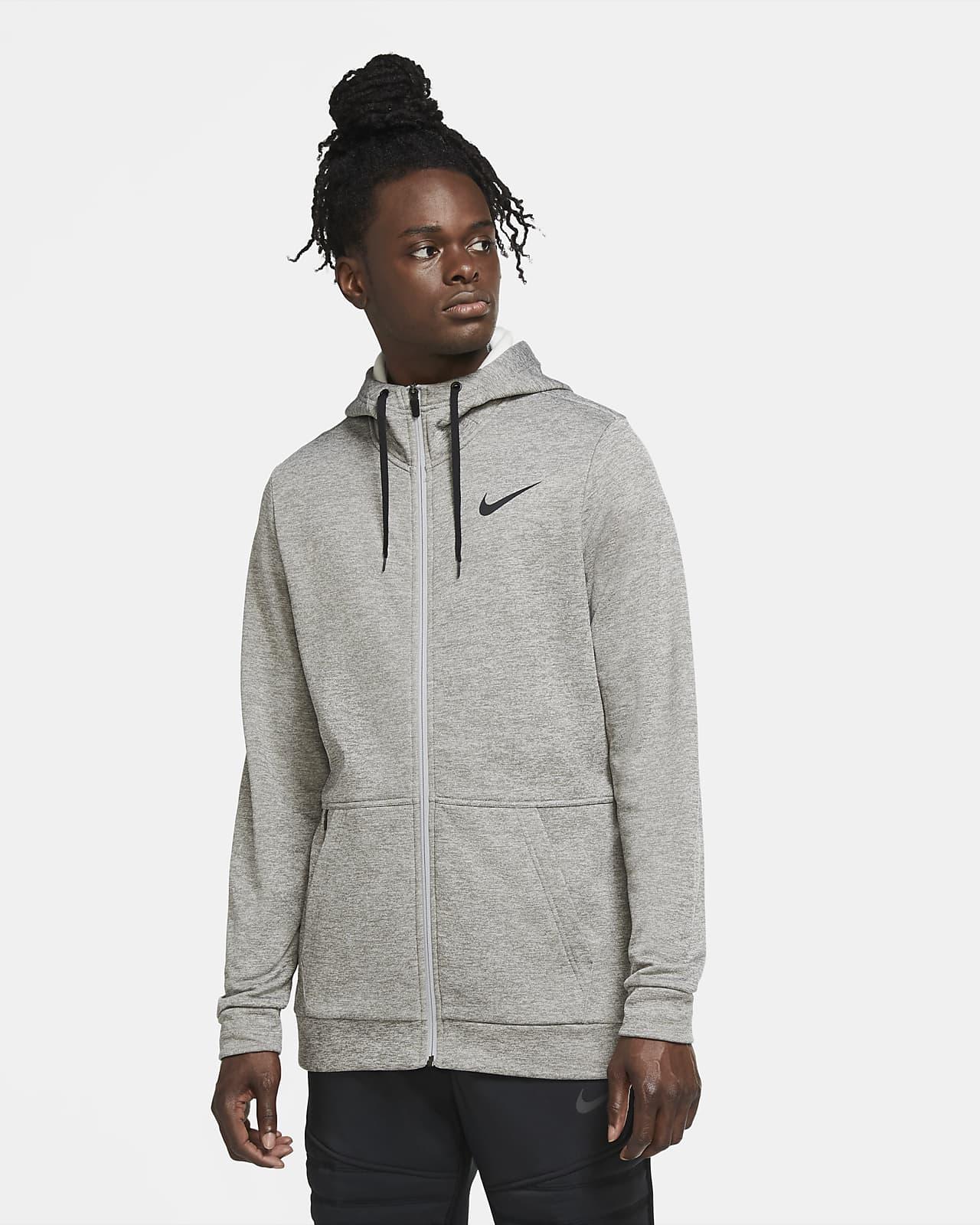 Nike Therma Tam Boy Fermuarlı Kapüşonlu Erkek Antrenman Üstü