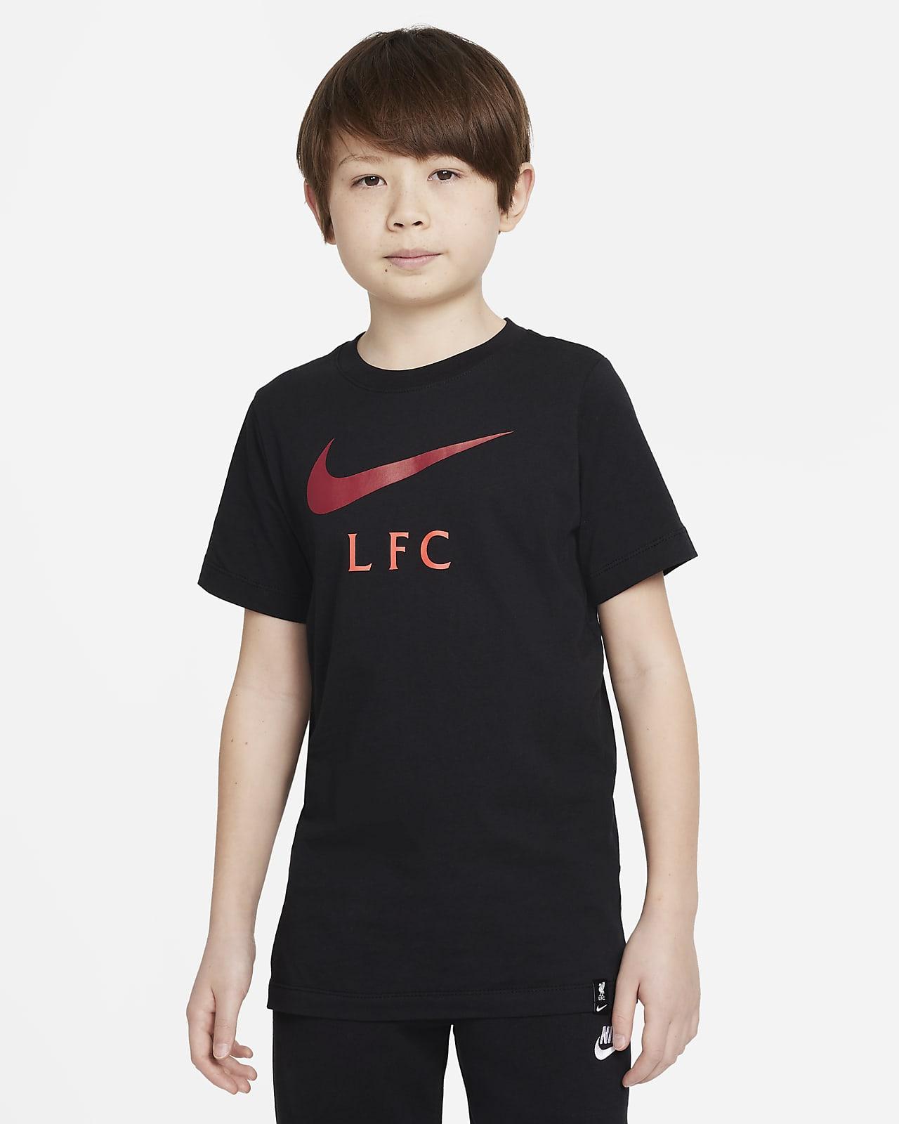 Liverpool FC-fodbold-T-shirt til større børn