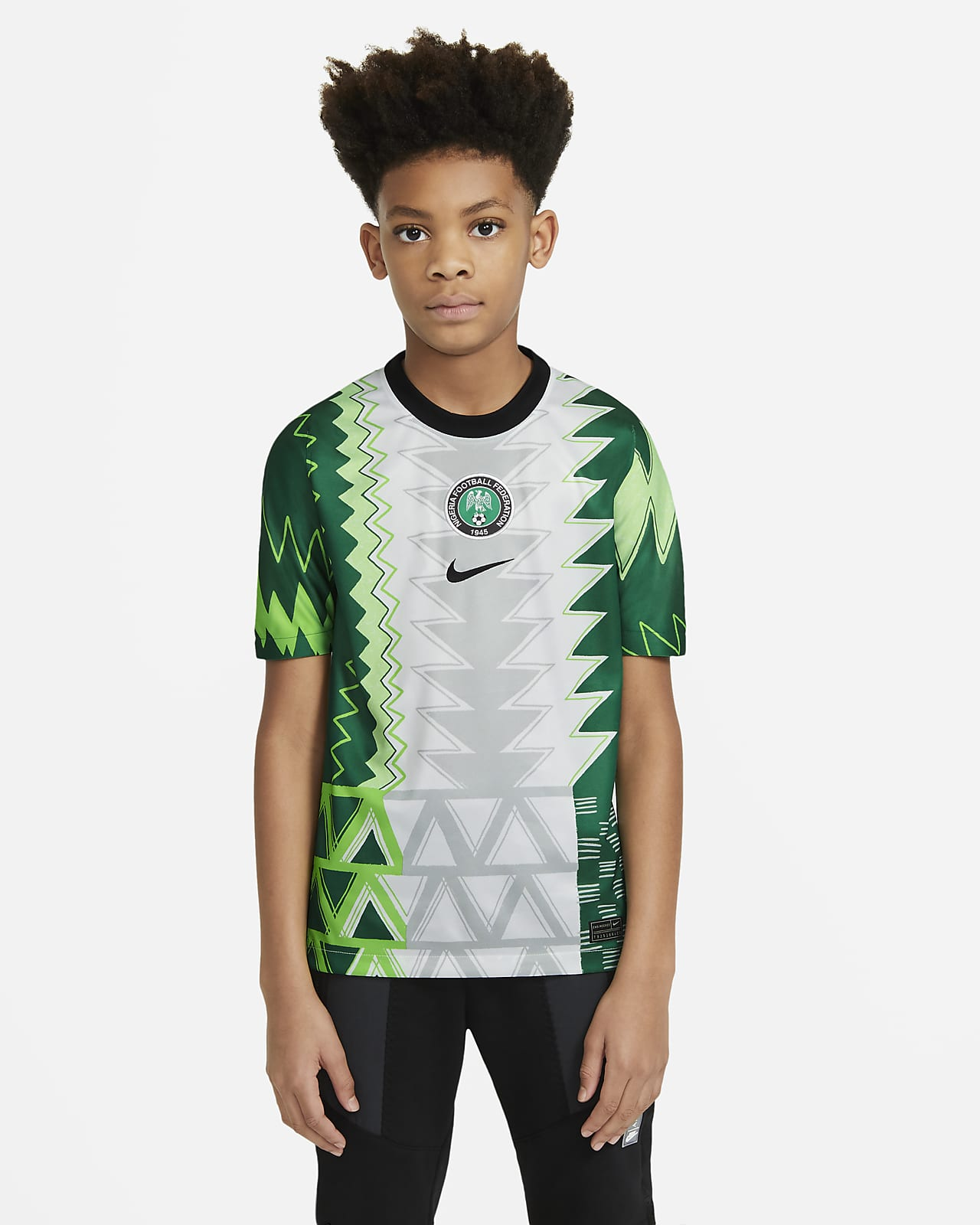 Nigeria 2020 Stadium Home Fußballtrikot für ältere Kinder