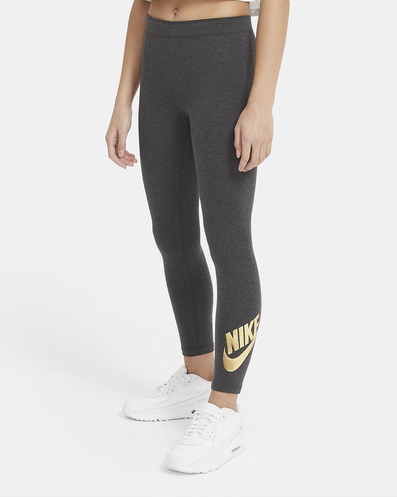 Legíny s potiskem Nike Sportswear pro větší děti (dívky)