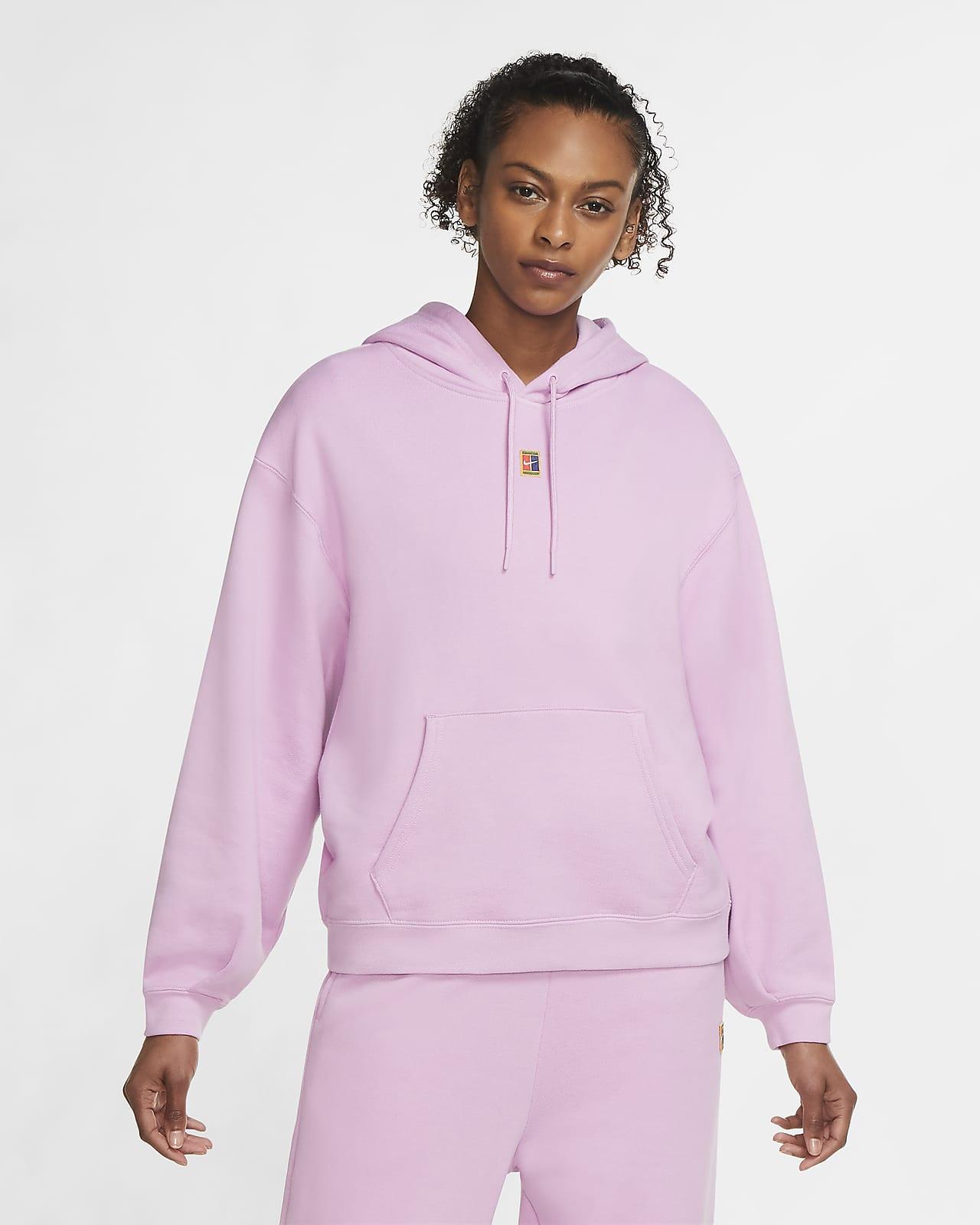 เสื้อเทนนิสมีฮู้ดผ้าฟลีซผู้หญิง NikeCourt