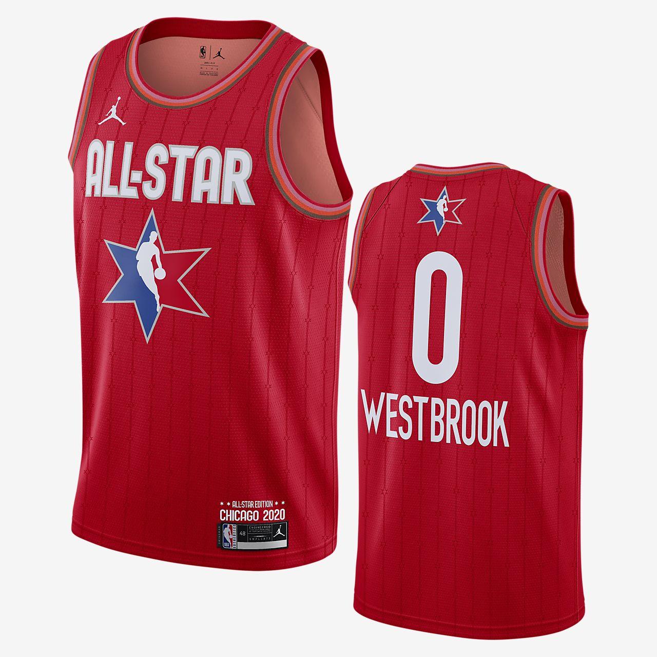 Rockets 0 Russell Westbrook White Nike Swingman Jersey on