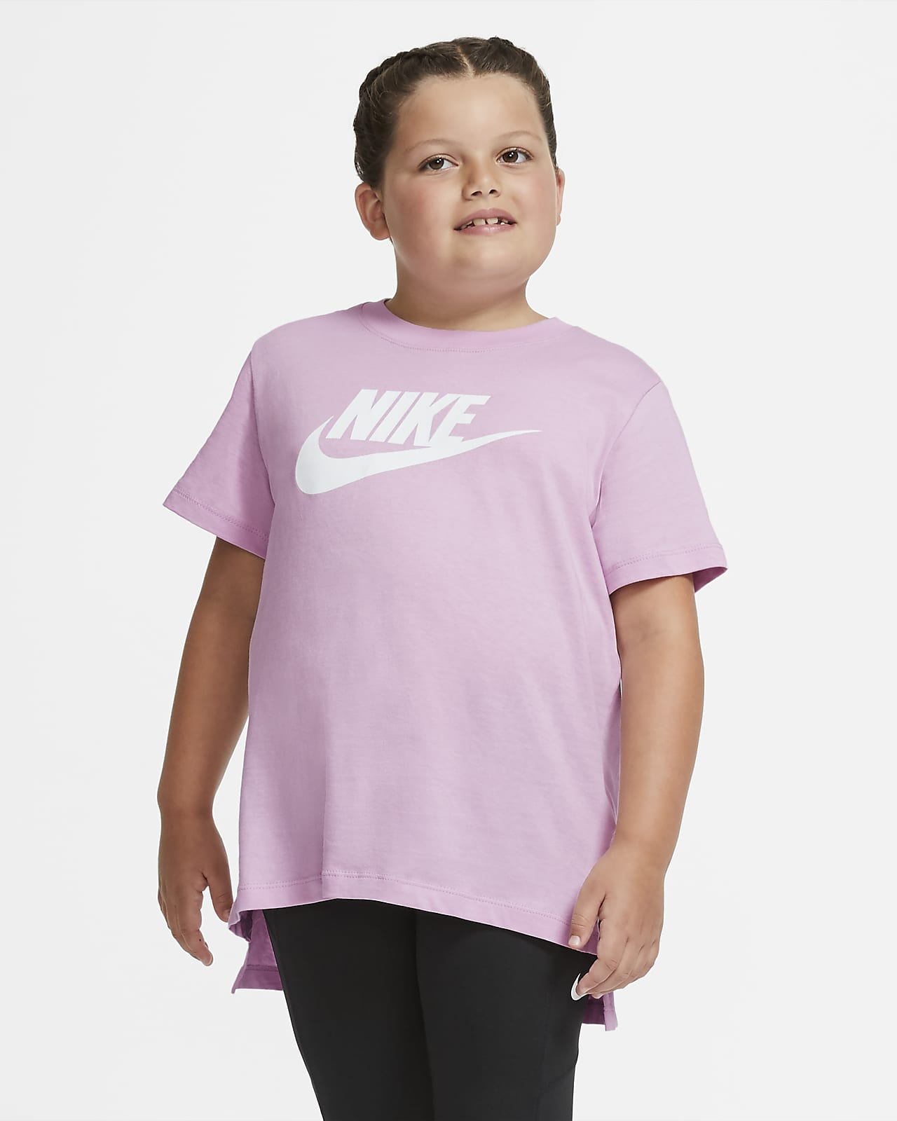 T-shirt dla dużych dzieci (dziewcząt) Nike (o wydłużonym rozmiarze)