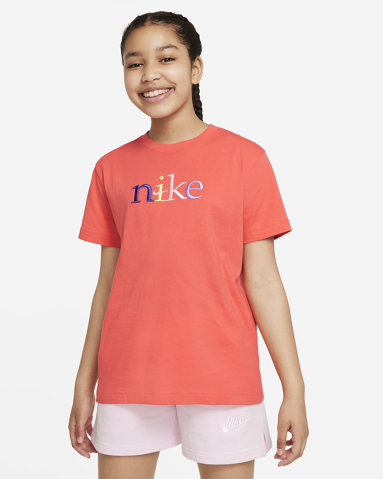 Playera para niña talla grande Nike Sportswear