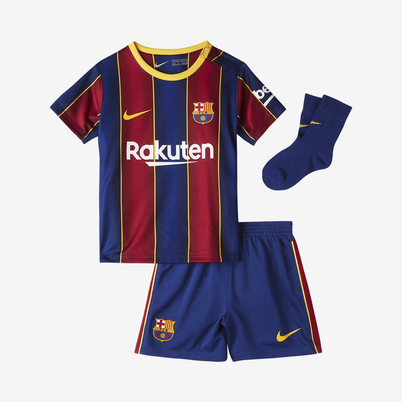 FC Barcelona 2020/21 (hjemmedrakt) fotballsett til sped-/småbarn