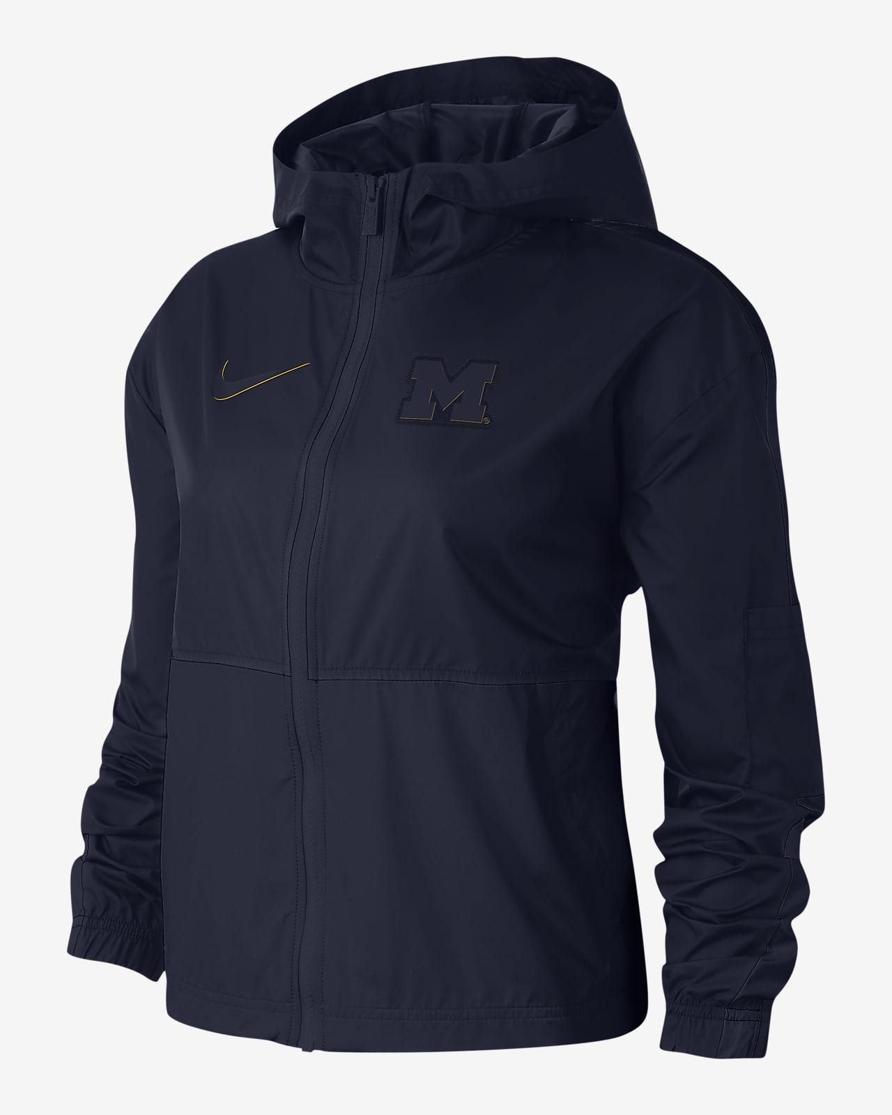 Chamarra para mujer Nike College Windrunner (Michigan)