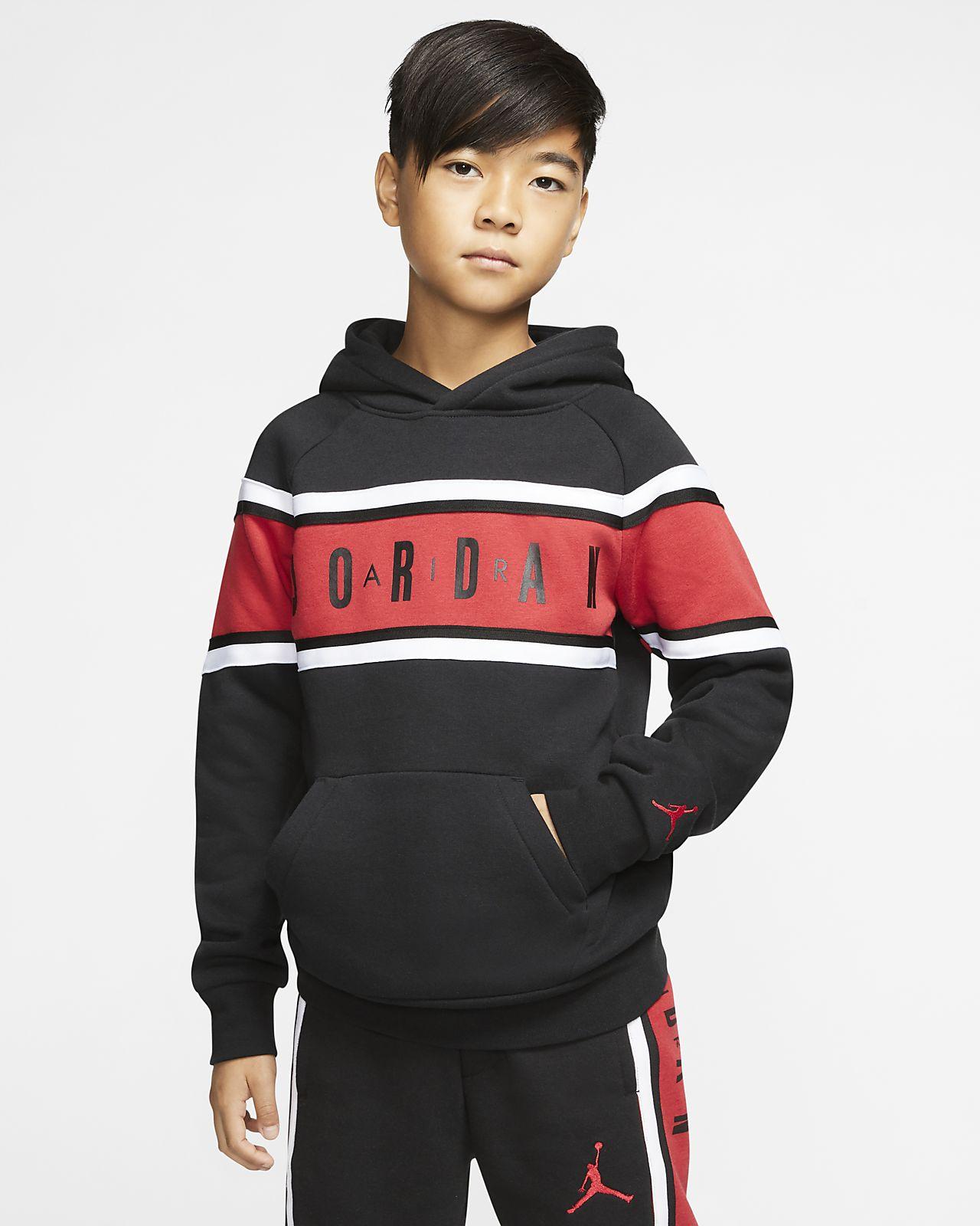 Air Jordan Color-Blocked 大童(男孩)条纹连帽衫