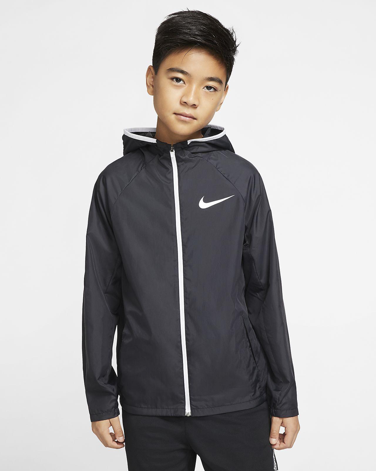 Kurtka treningowa z tkaniny dla dużych dzieci (chłopców) Nike. Nike PL