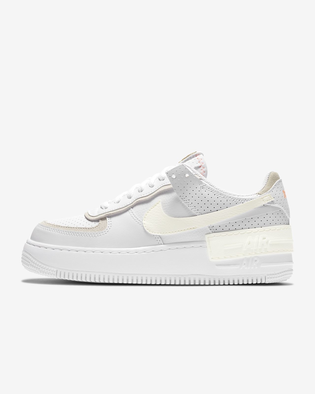 Women's White Air Force 1 Shoes. Nike GB