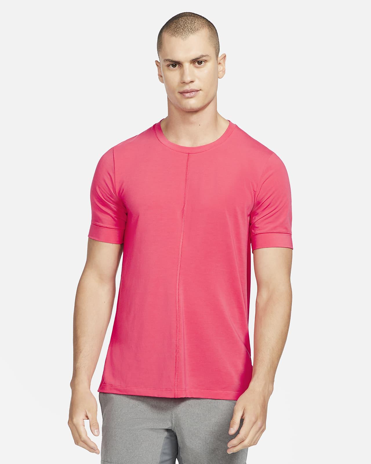 Prenda para la parte superior de manga corta para hombre Nike Yoga Dri-FIT