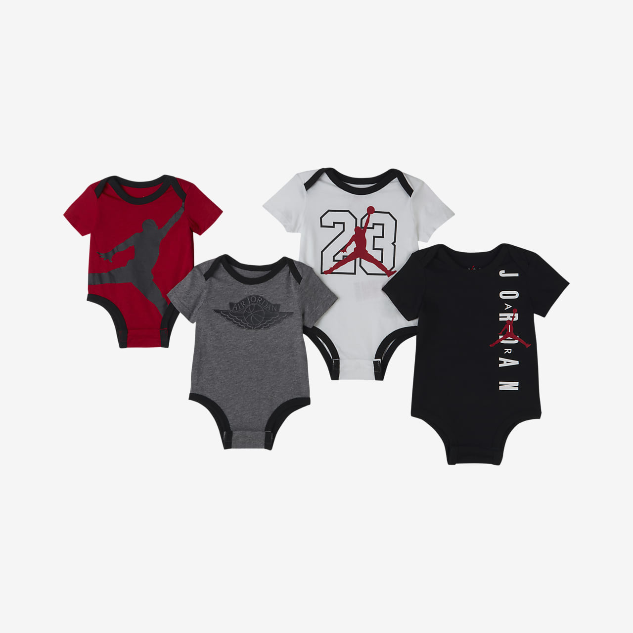 Jordan Baby (0–9M) Bodysuit Set (4 Pack)