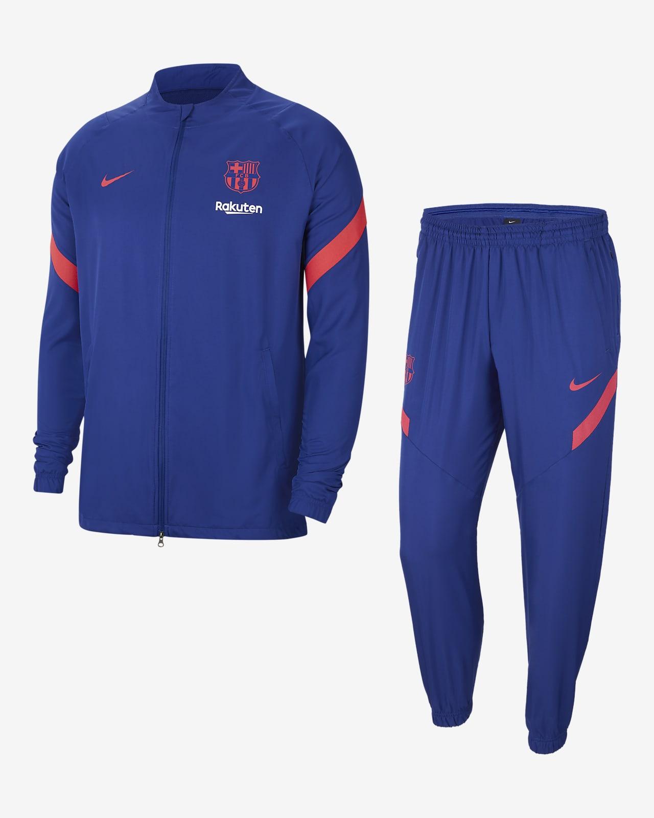 Męski dres piłkarski z tkaniny FC Barcelona Strike