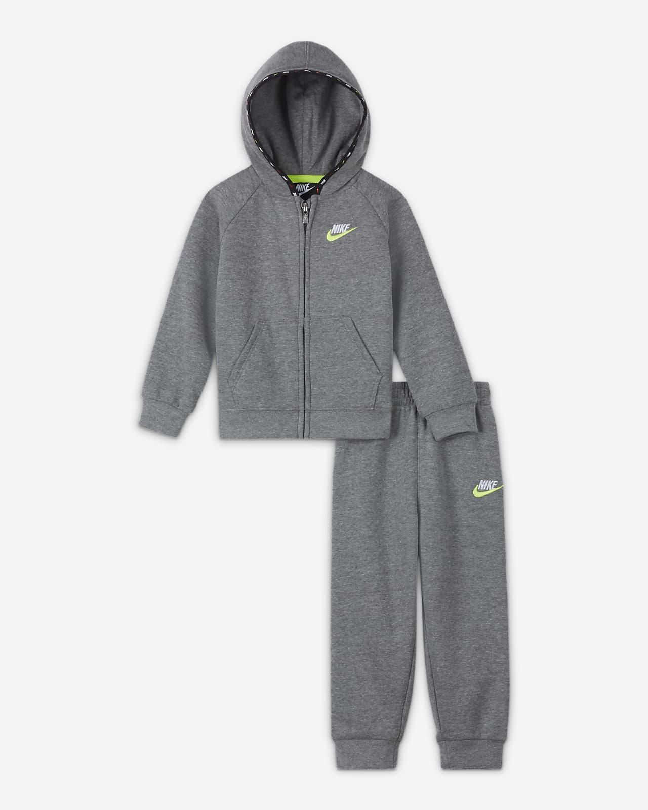 Σετ μπλούζα με κουκούλα και παντελόνι φόρμας Nike για βρέφη (12-24M)