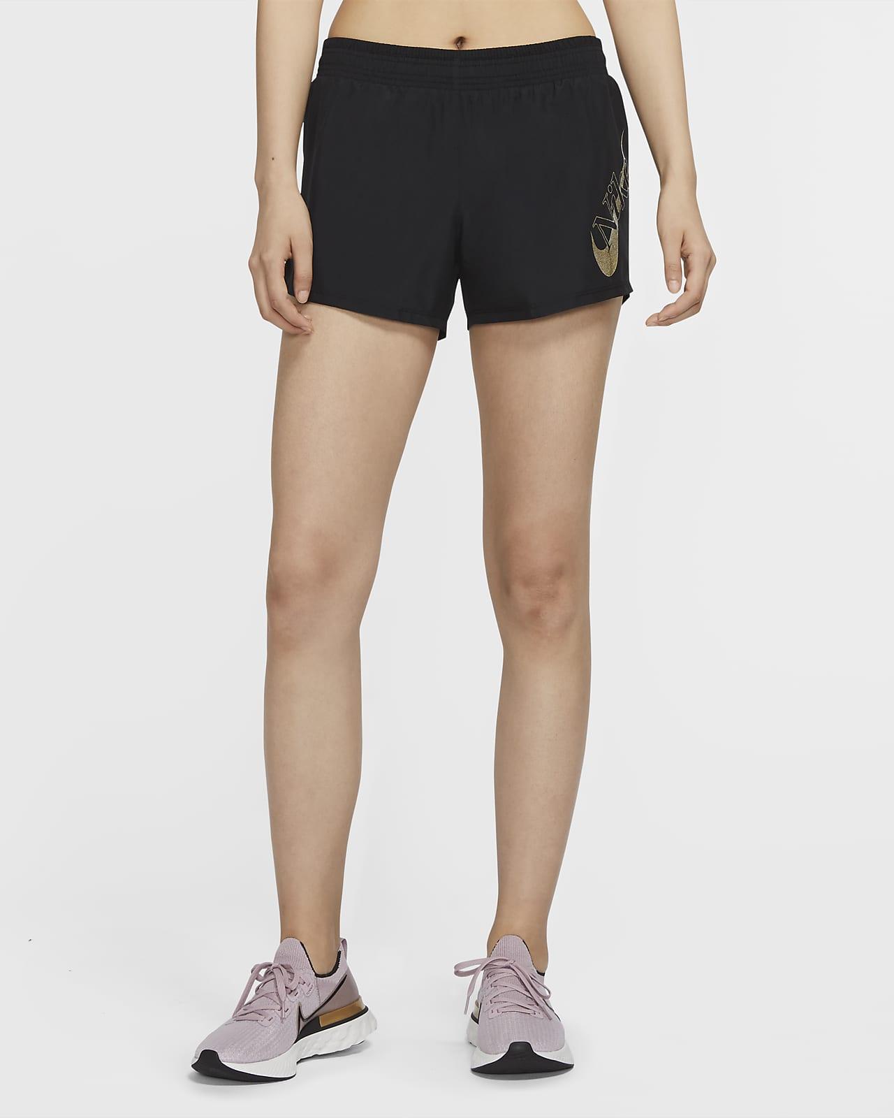 กางเกงวิ่งขาสั้นผู้หญิง Nike Icon Clash 10K