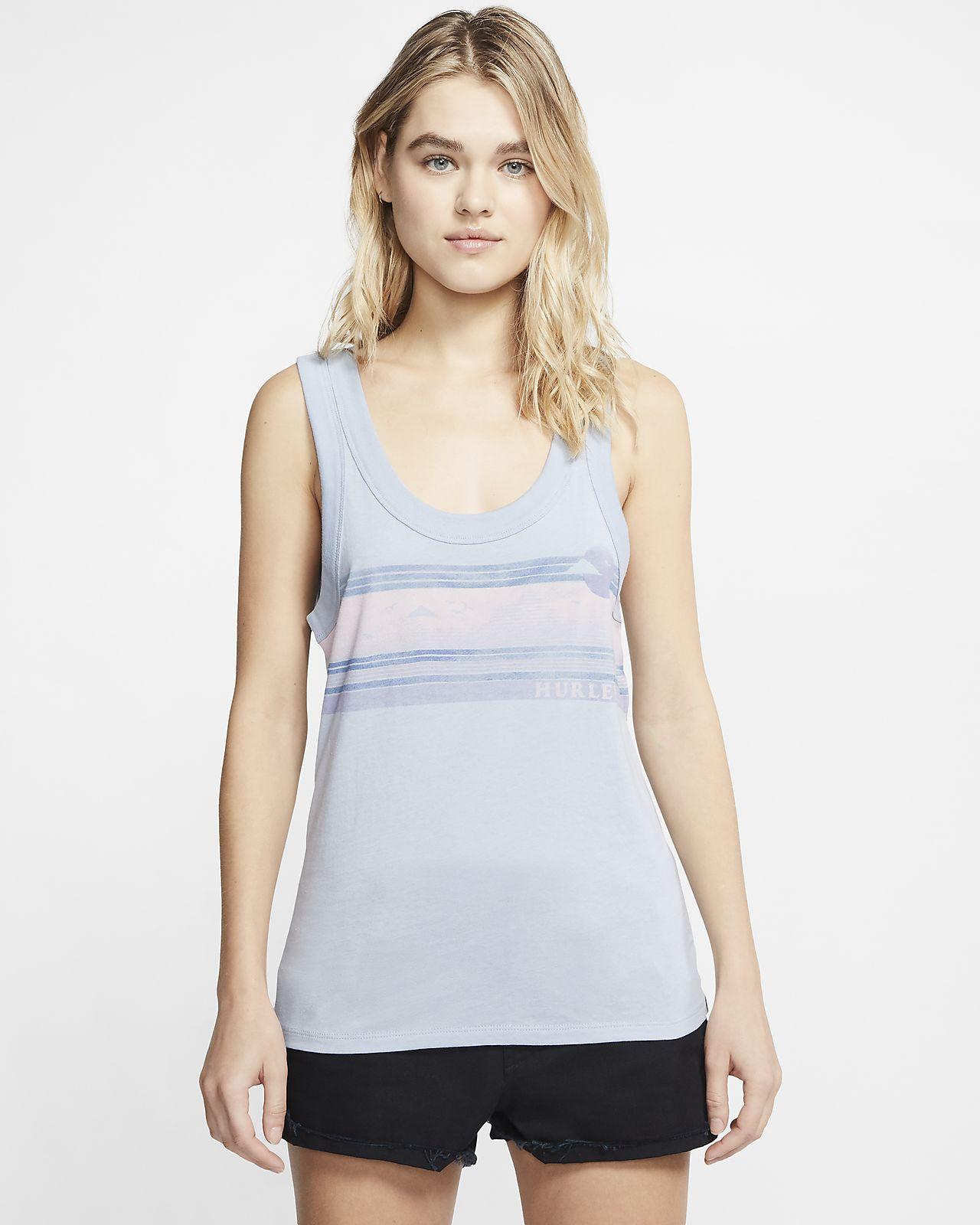Hurley Womens Scenic Stripes Scoop Neck Tank Top