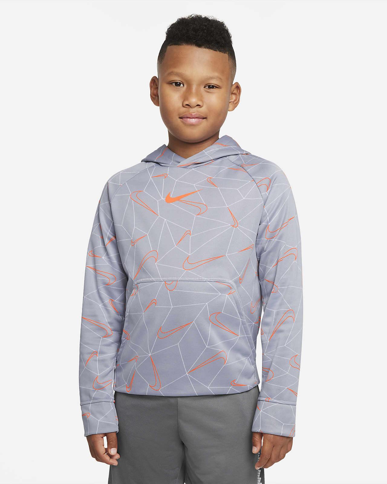 Nike Therma-FIT Big Kids' (Boys') Printed Pullover Hoodie