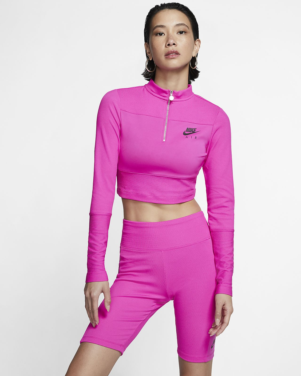 Prenda para la parte superior de manga larga en tela rib para mujer Nike Air