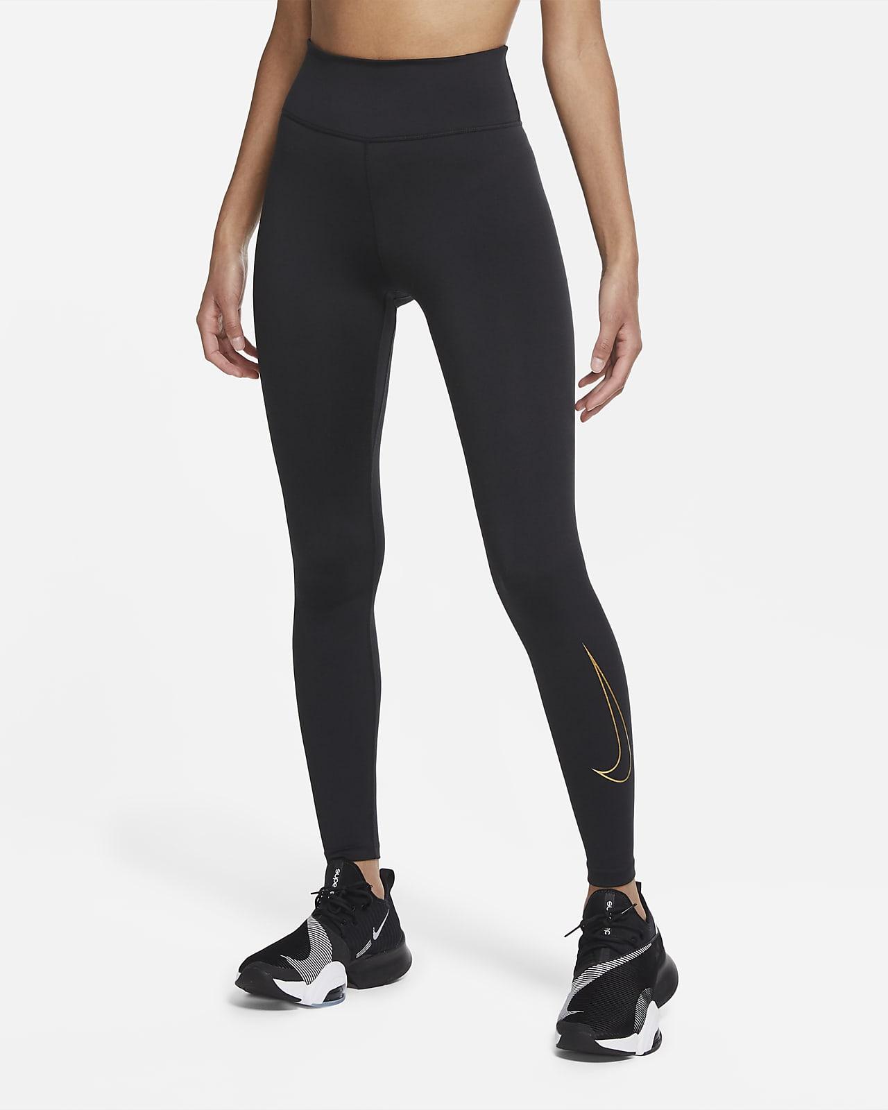 กางเกงรัดรูปผู้หญิง Nike One Icon Clash