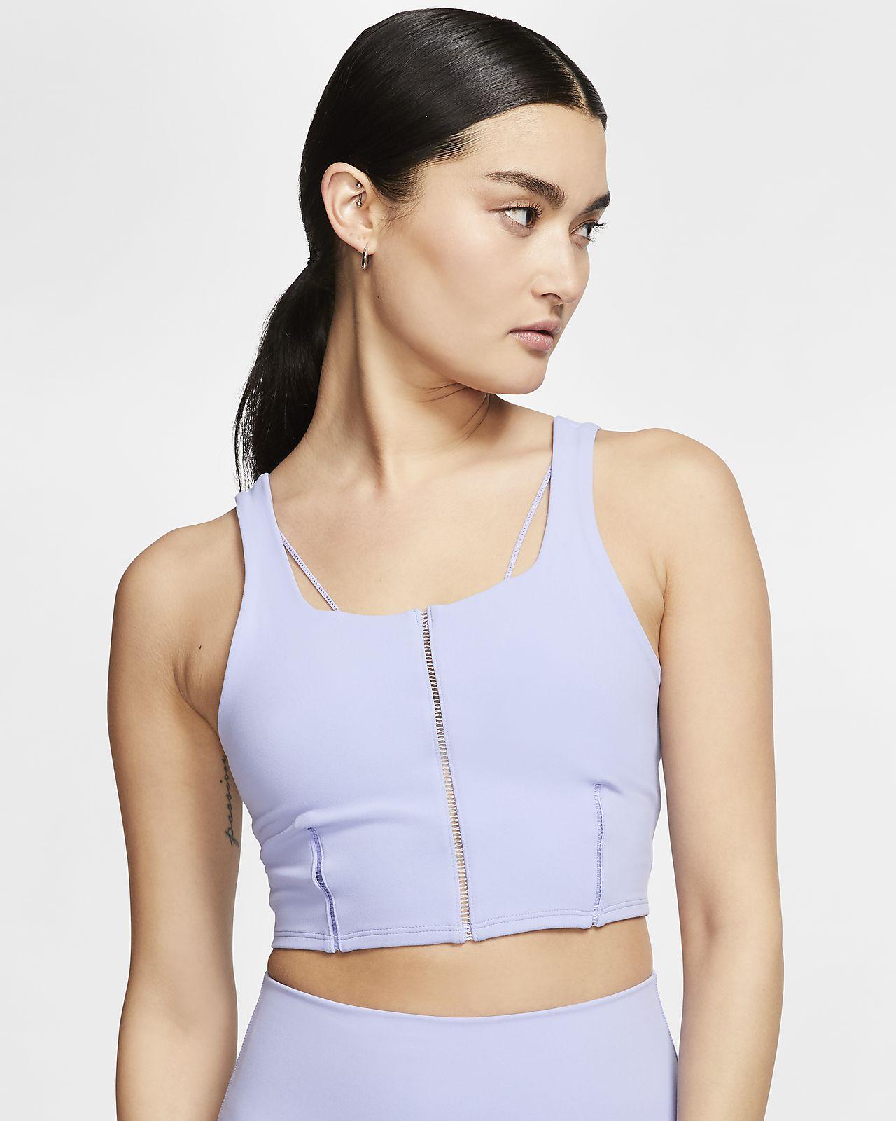 Camisola sem mangas recortada em Infinalon Nike Yoga Luxe para mulher
