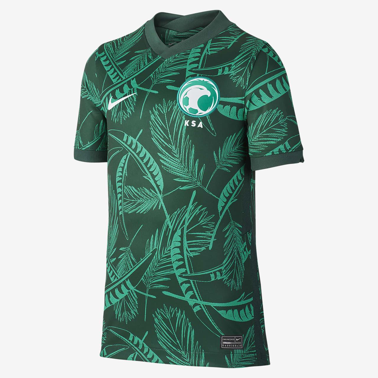 Camiseta de fútbol de visitante para niños talla grande Saudi Arabia Stadium 2020