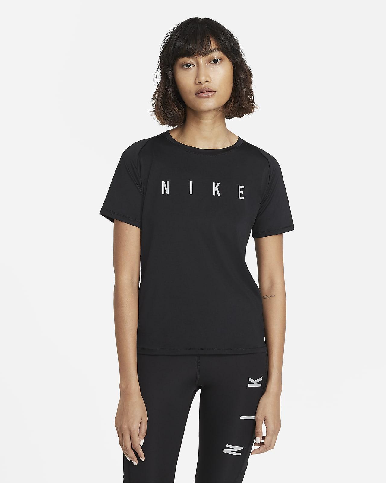 Nike Miler Run Division Kurzarm-Laufoberteil für Damen