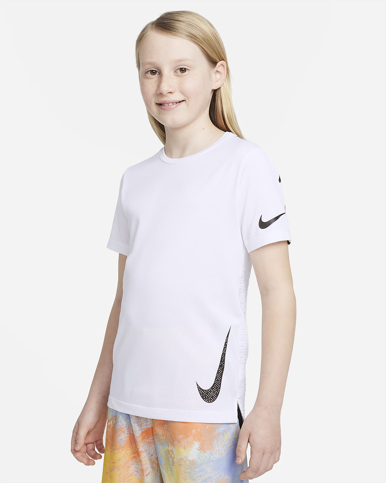 Parte superior de entrenamiento de manga corta para niño talla grande Nike Instacool