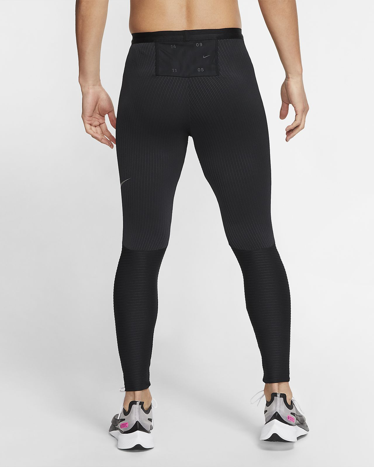 Black More Mile Girls Long Running Tights