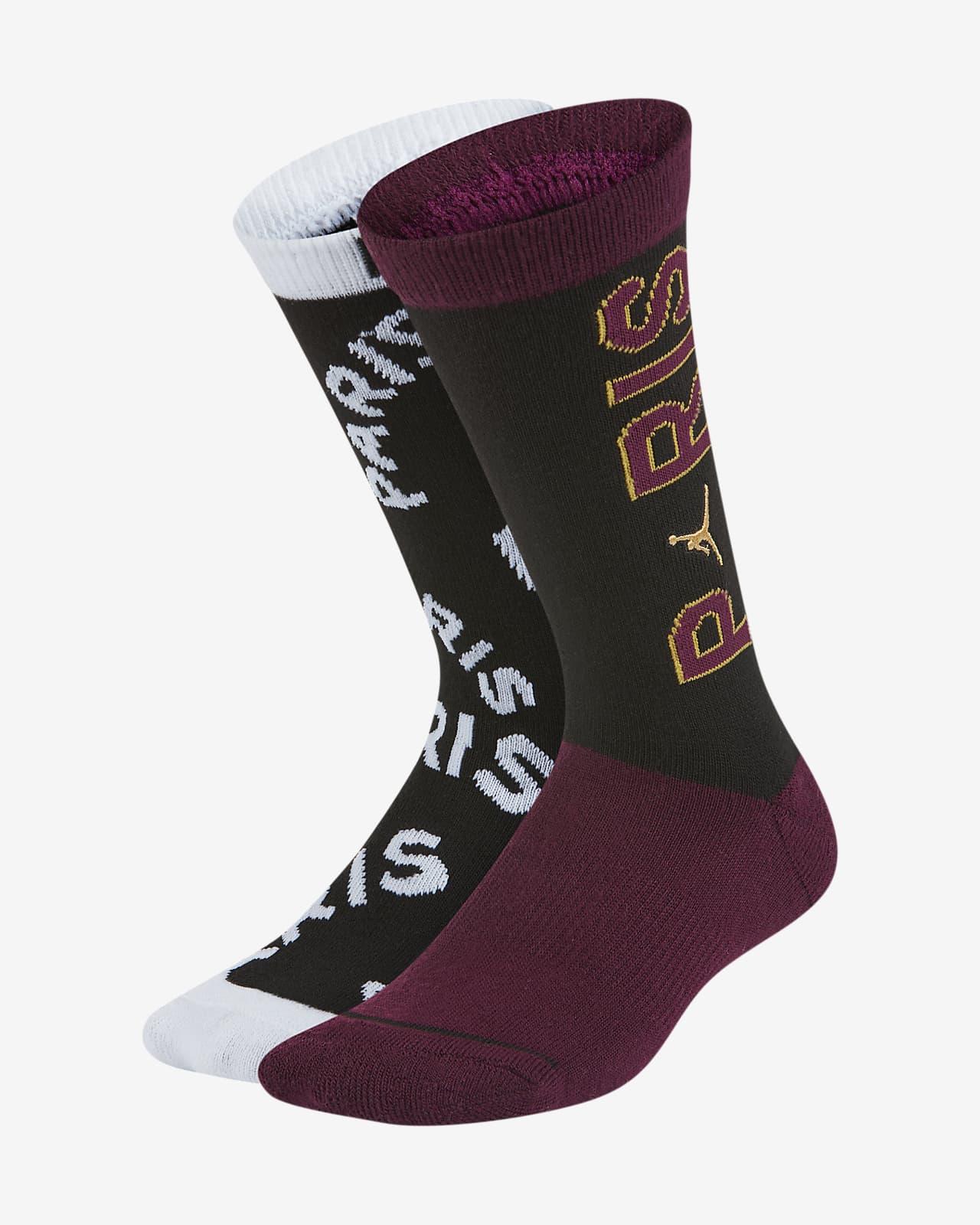 Středně vysoké ponožky Paris Saint-Germain pro větší děti (2 páry)