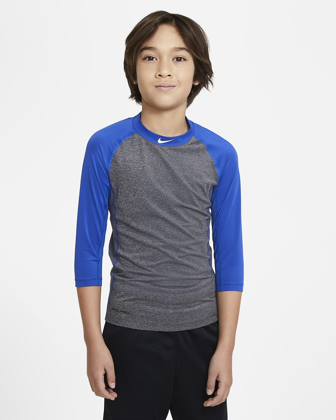 Camiseta de béisbol de manga 3/4 para niños talla grande Nike Pro Dri-FIT