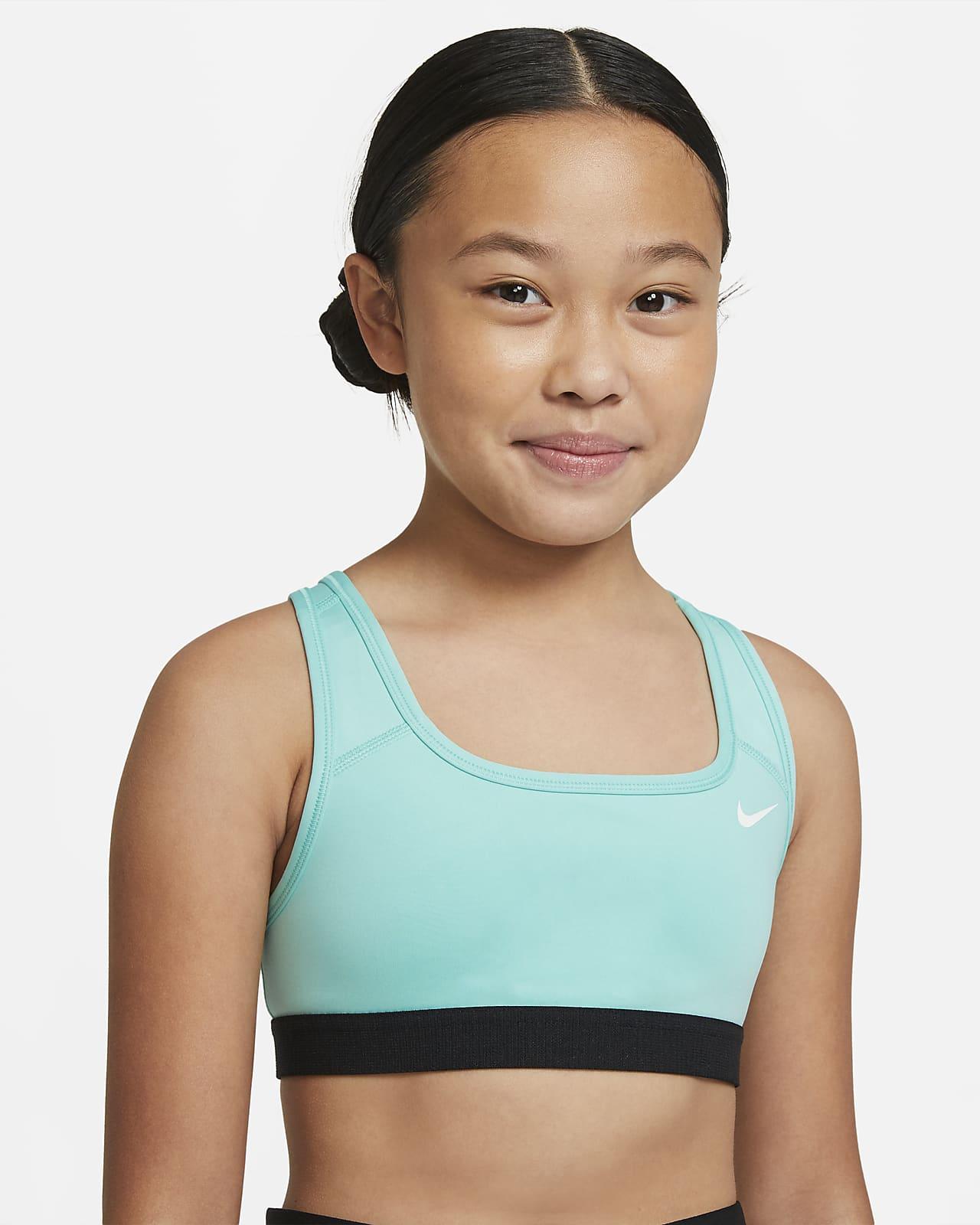 Sportovní podprsenka Nike Swoosh pro větší děti (dívky)