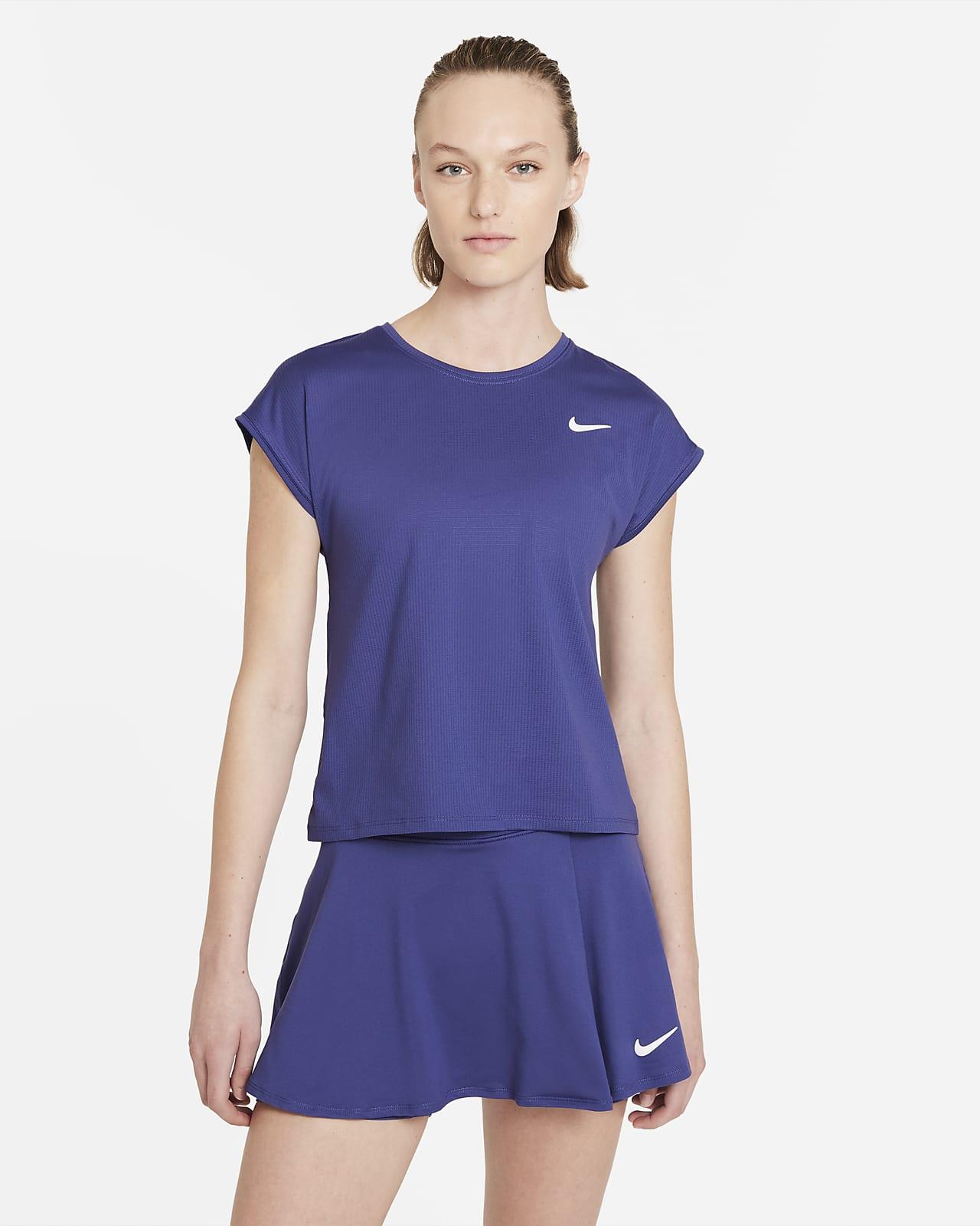 Kortärmad tenniströja NikeCourt Dri-FIT Victory för kvinnor