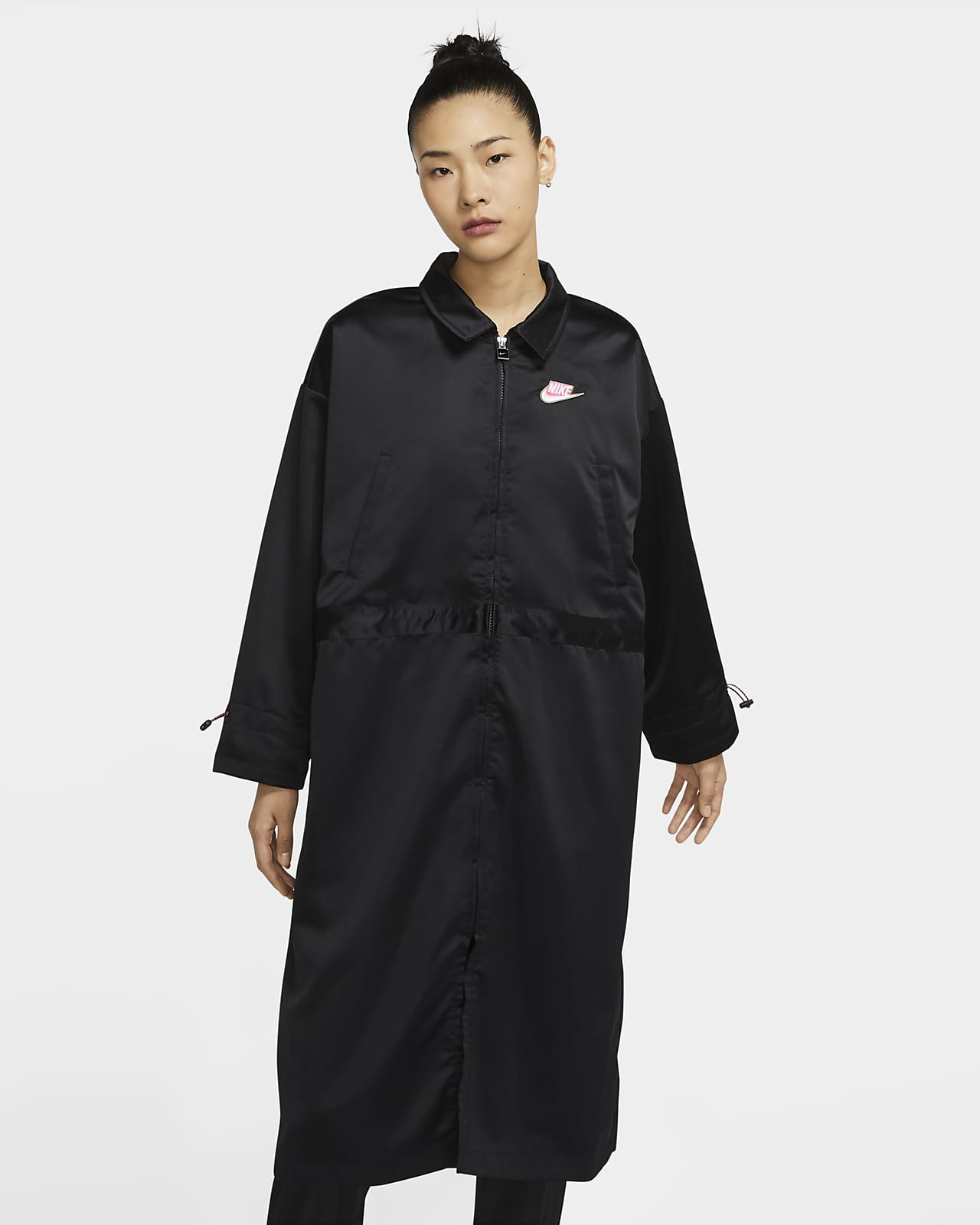 Nike Sportswear Icon Clash 女款緞面長版外套
