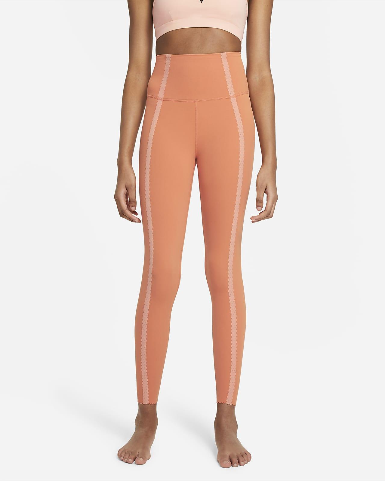 Женские слегка укороченные леггинсы Eyelet с высокой посадкой Nike Yoga Luxe