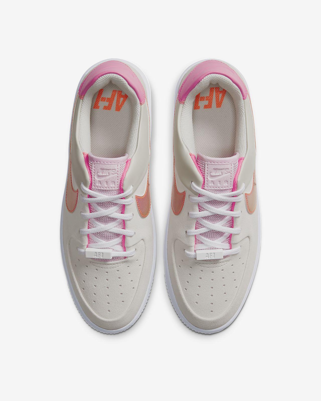 Damskie Nike Air Force 1 Sage Low BiałyDigital Pink