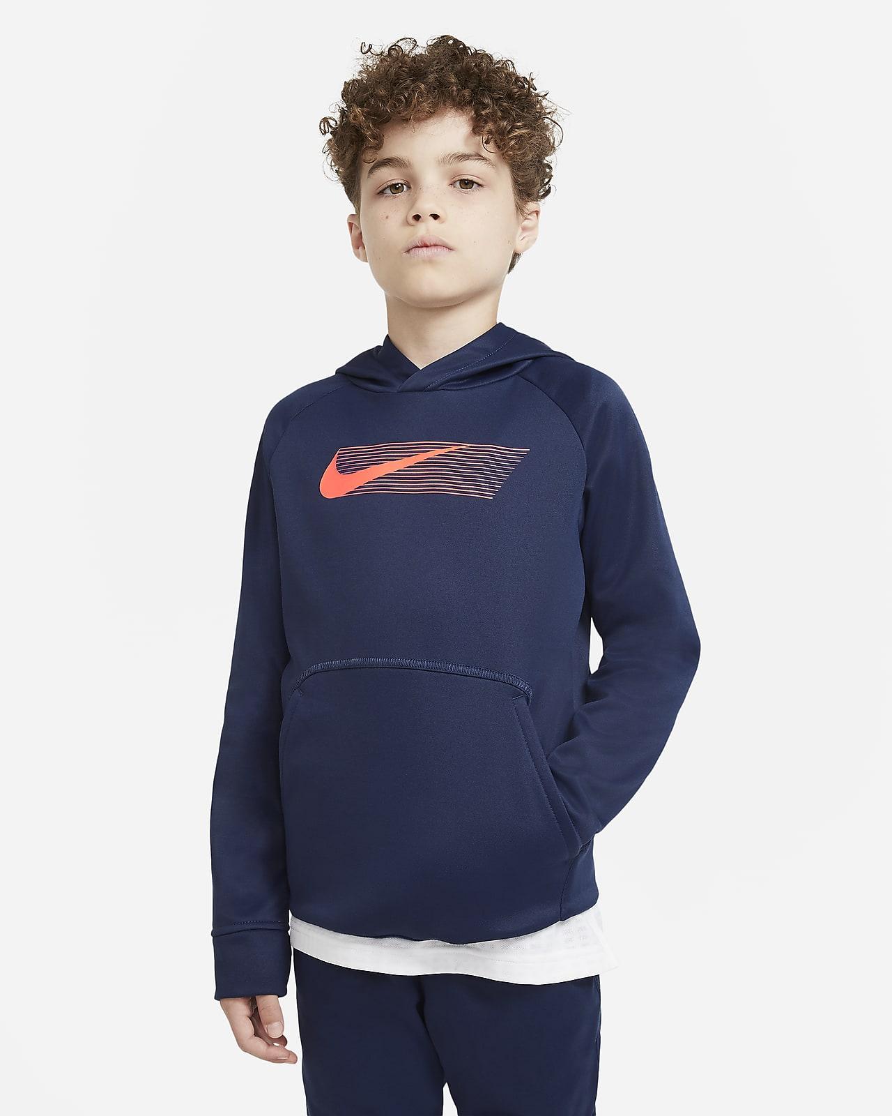 Nike Therma Big Kids' (Boys') Pullover Graphic Training Hoodie