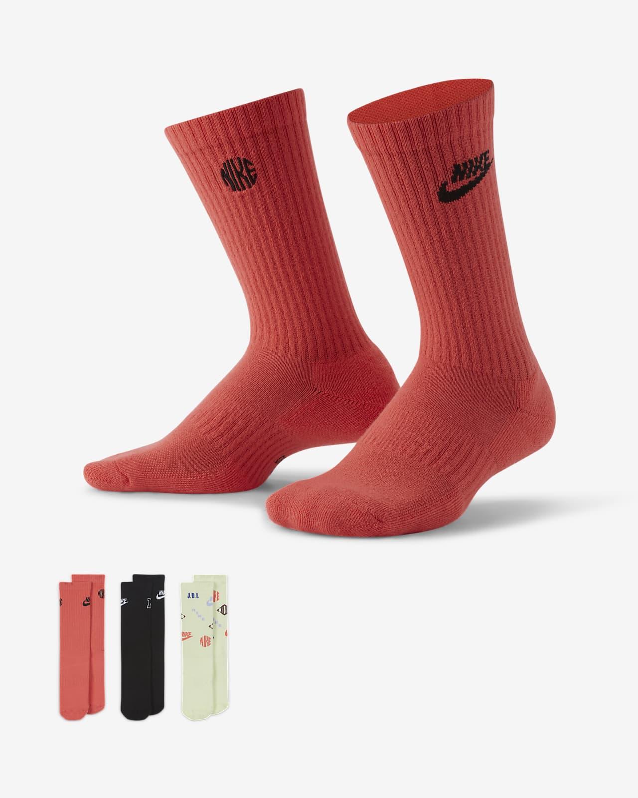 Nike Everyday Cushioned Crew 儿童运动童袜(3 双)