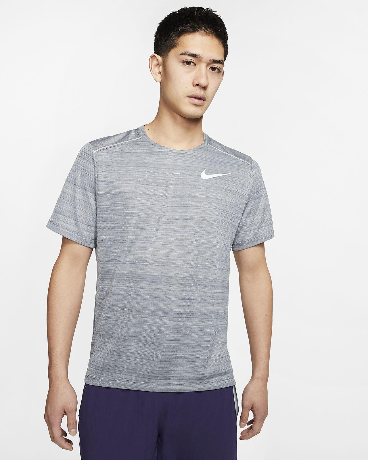 Kortærmet Nike Dri-FIT Miler-løbeoverdel til mænd